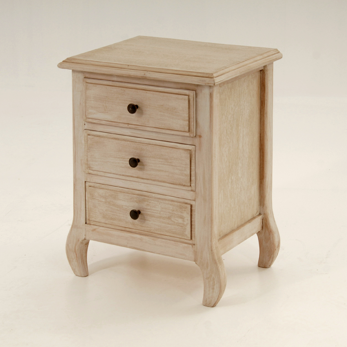 Be0033 Bedside Table With 3 Drawers