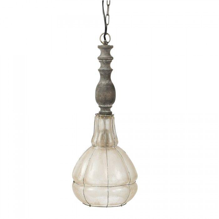 Metal glass lamp