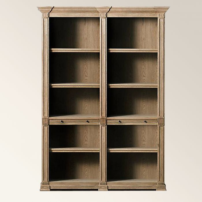 London style open bookcase