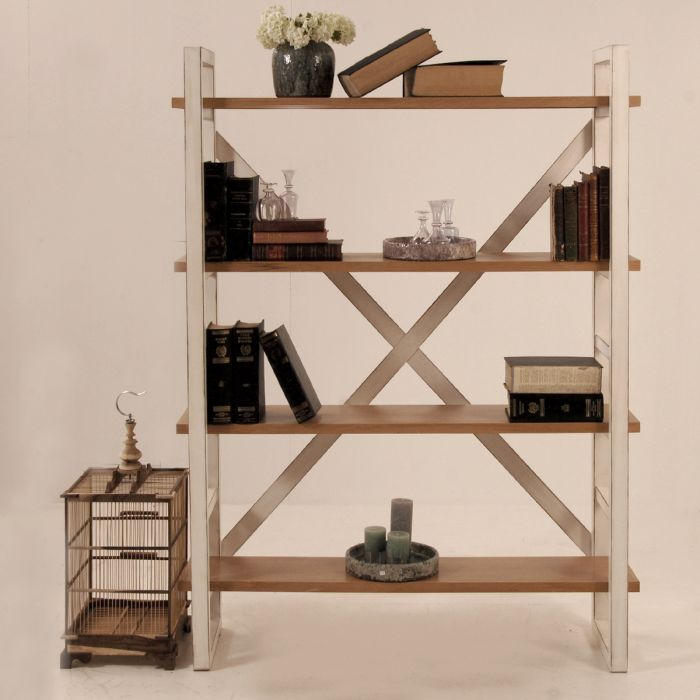 Open bookcase with X back