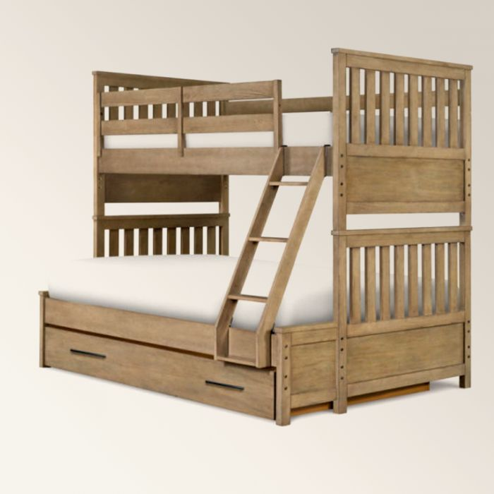 Bunk bed with drawers