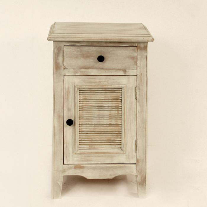 Bedside table with shutters