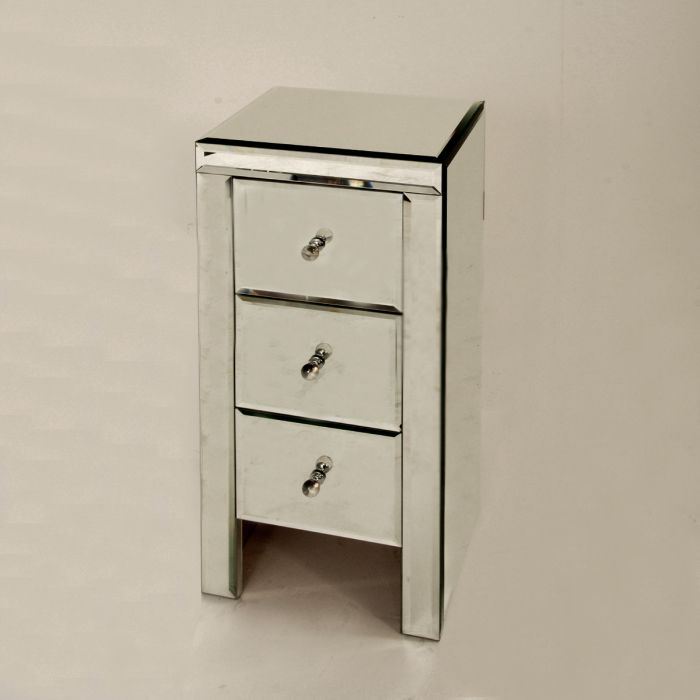 Bedside table with mirrors
