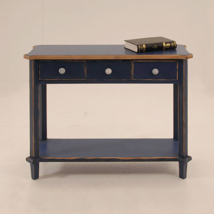 Console with shelf