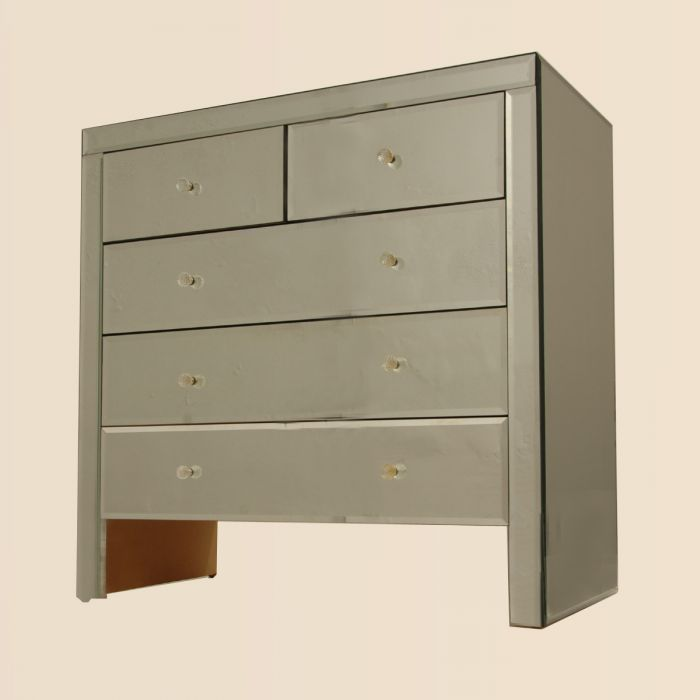 Chest of drawers with mirrors