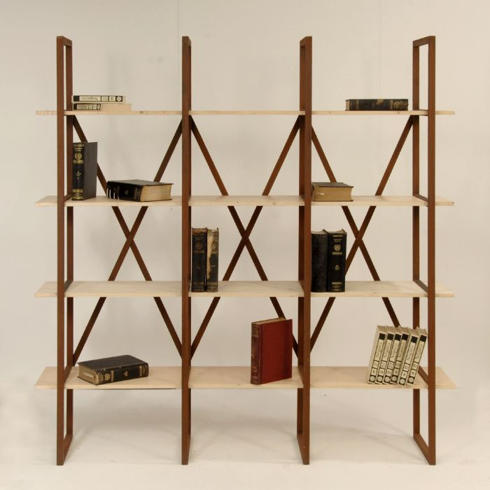INDUSTRIAL STYLE OPEN BOOKCASE